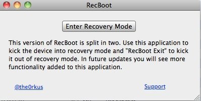 RecBoot - Enter Recovery Mode