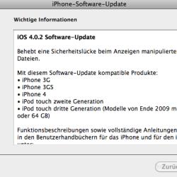 iOS 4.0.2 veröffentlicht