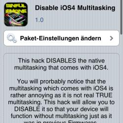 Multitasking unter iOS 4 deaktivieren
