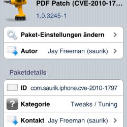 PDF Patch vom Dev-Team für alte iOS-Versionen