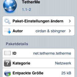 TetherMe: Natives Tethering auf iPhone aktivieren