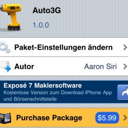 Auto3G: UMTS auf iPhone auf Abruf