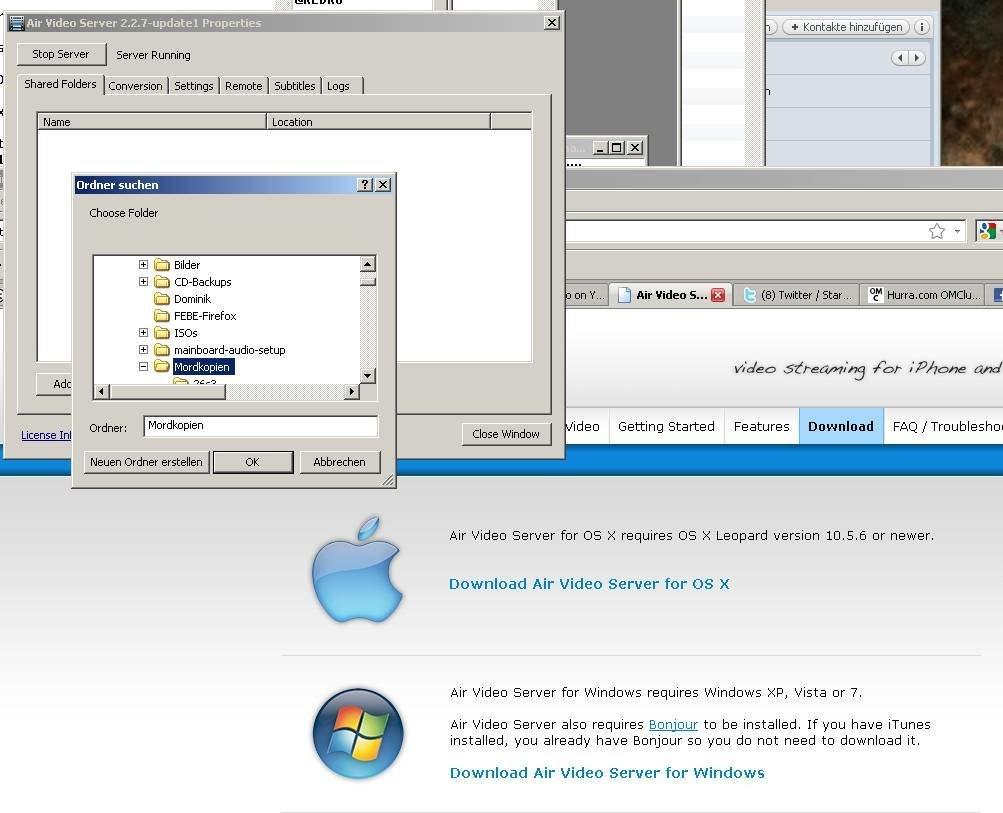 Air Video Server - Screenshot
