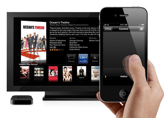 Remote steuert Apple TV
