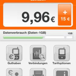 simyo-App für iPhone: Tarif- und Kontoverwaltung plus Datenverbrauchsanzeige