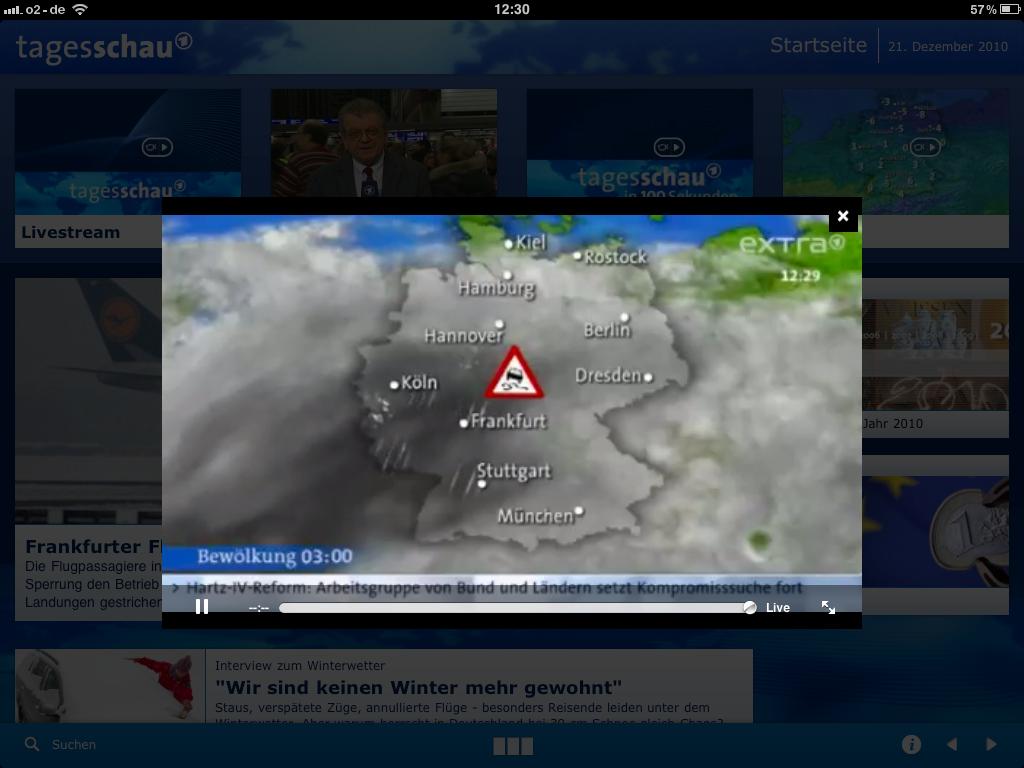 Tagesschau-App - Video-Overlay