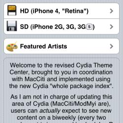 """""""Themes""""-Rubrik neu in Cydia"""