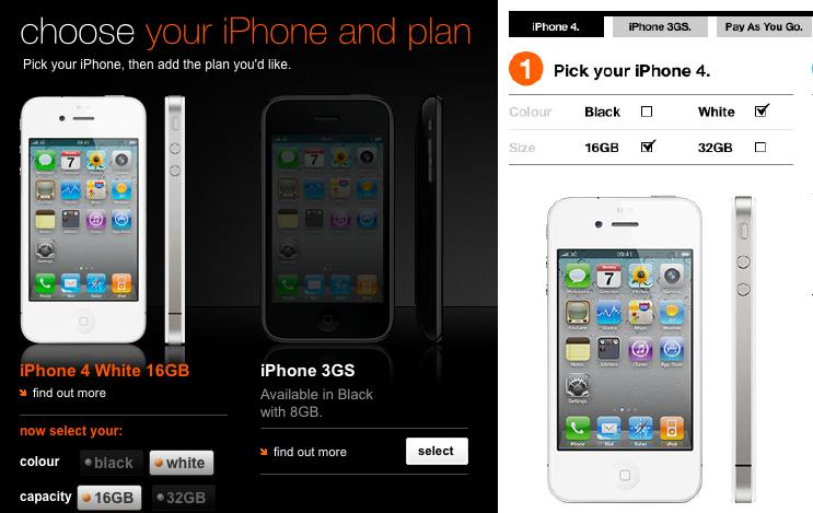 iPhone 4 weiß Orange Three