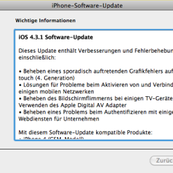 iOS 4.3.1 veröffentlicht