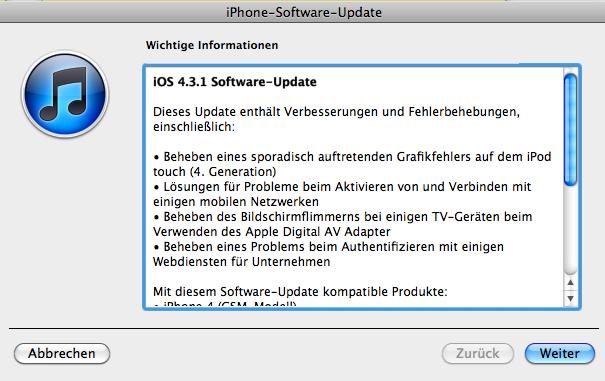 iOS 4.3.1