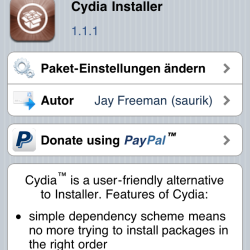Cydia 1.1.1 behebt Fehler nach Update