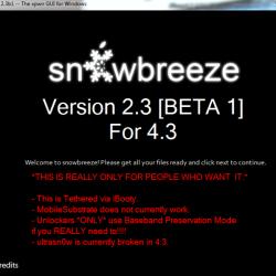 Sn0wbreeze 2.3b1 erlaubt tethered Jailbreak von iOS 4.3