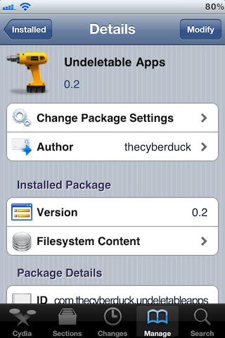 Undeletable Apps