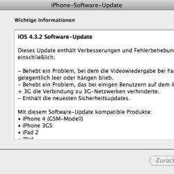 iOS 4.3.2 veröffentlicht