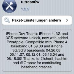 ultrasn0w 1.2.2 jetzt für iOS 4.3.2 aktualisiert