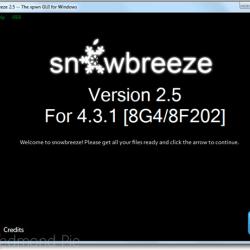 Anleitung: untethered Jailbreak unter iOS 4.3.1 mit Sn0wbreeze 2.5