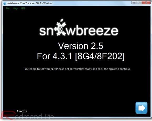 Sn0wbreeze 2.5 - Screenshot