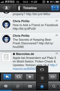 Tweetbot - frei belegbare Buttons