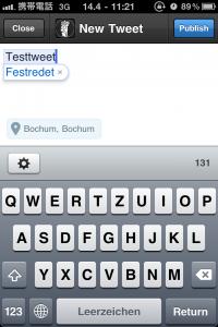 Tweetbot - neuen Tweet verfassen