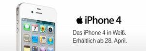 iPhone 4 (weiß) bei Telekom