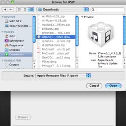 Anleitung: untethered Jailbreak unter iOS 4.3.3 mit redsn0w 0.9.6 RC16