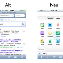 Google-Suche unter iOS in neuem Design