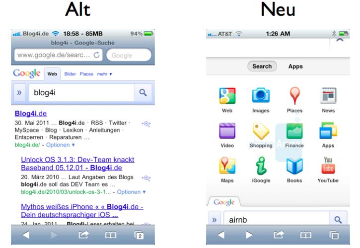 Google Mobile Suche