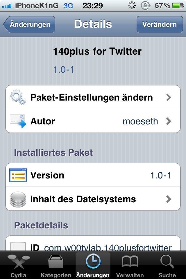 140plus for Twitter - Screenshot