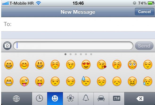 Emoji-Tastatur iOS 5