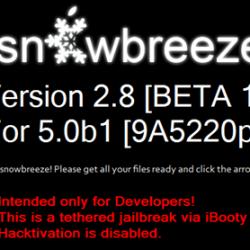 Sn0wbreeze 2.8 Beta 1 erstellt Custom Firmware der iOS 5 Beta 1