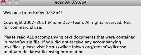 redsn0w 0.9.8b4 - Screenshot