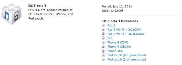 iOS 5 - Beta 3