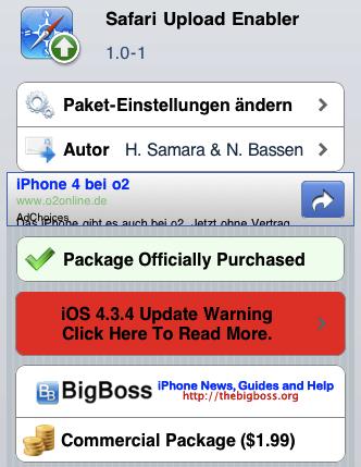 Safari Upload Enabler
