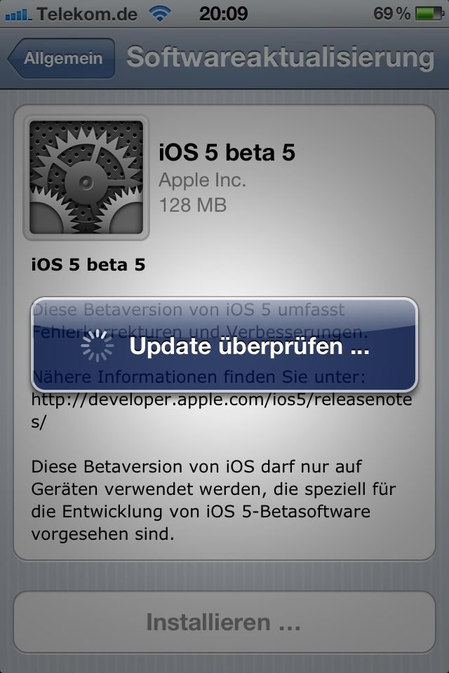 iOS 5 - Over the Air