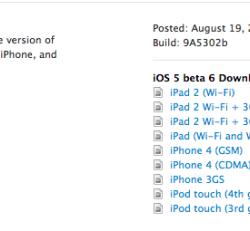 iOS 5 Beta 6 veröffentlicht