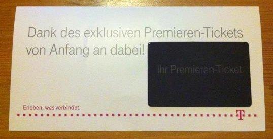 Premieren Ticket Telekom