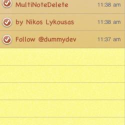 MultiNoteDelete: Löschen mehrerer Notizen auf einmal