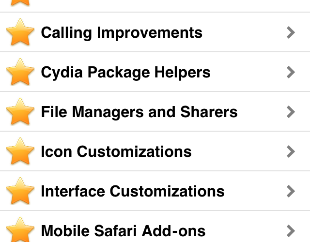 Cydia Featured Apps