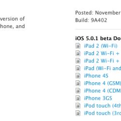 iOS 5.0.1 für Entwickler freigegeben