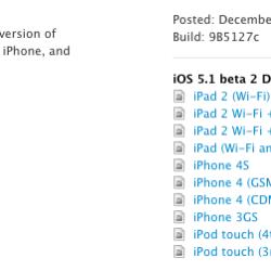 iOS 5.1 Beta 2 veröffentlicht