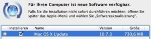 OS X 10.7.3 - Updatemeldung
