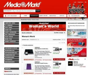Media Markt AT Woman's World Screenshot