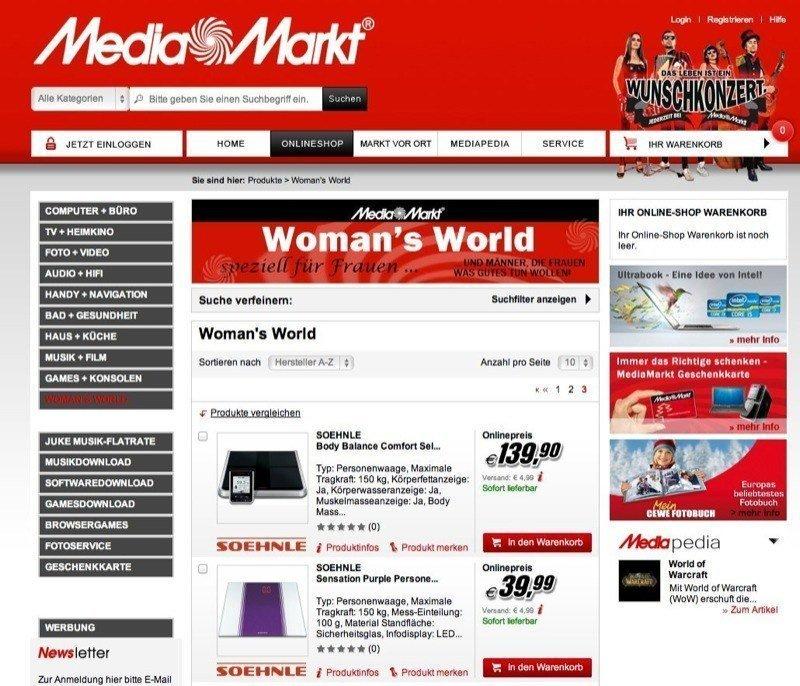 Media Markt AT Woman's World Screenshot