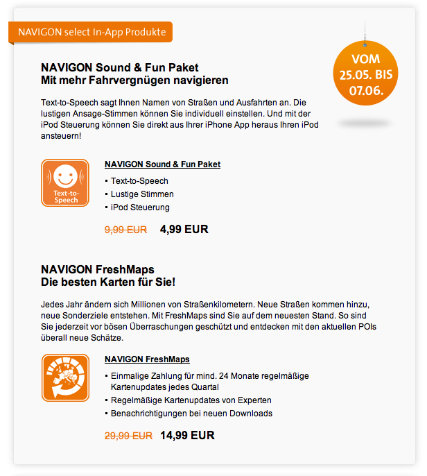 Navigon - Rabatt-Newsletter