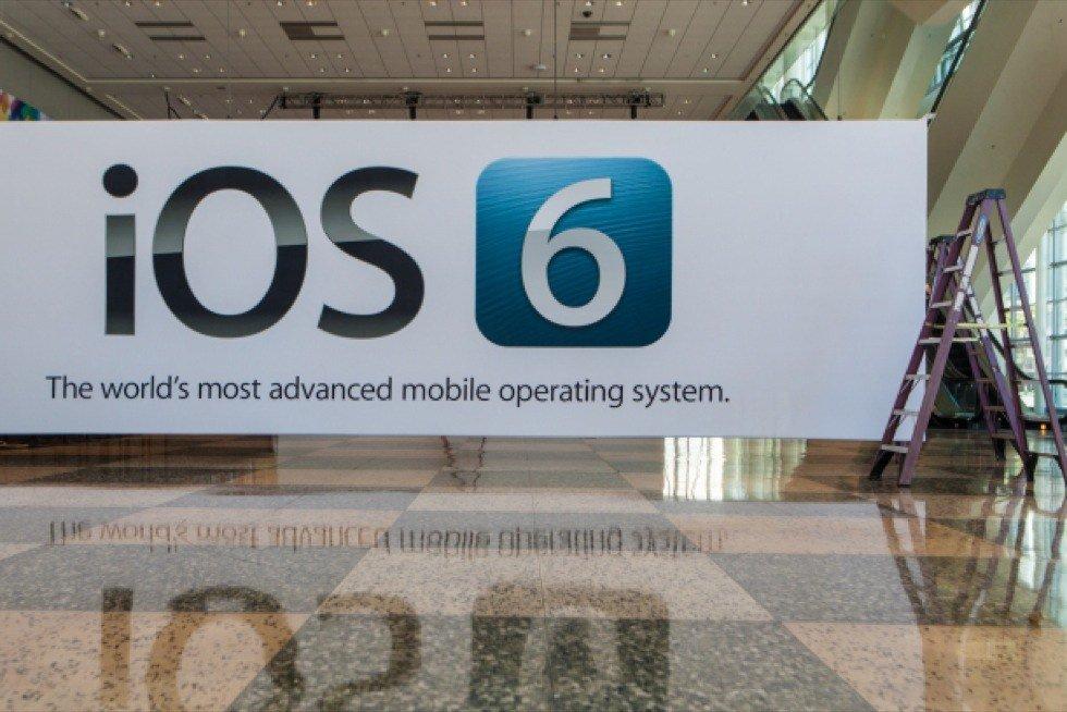 iOS-6-Banderole im Moscone Center, das für die WWDC 2012 fitgemacht wird, Foto: James Martin, CNET