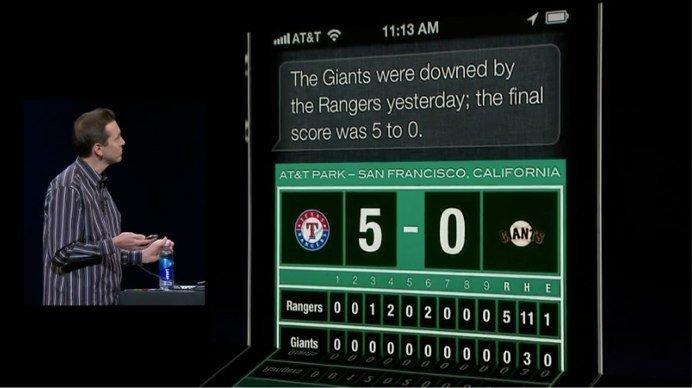 Siri wird in iOS 6 Sportergebnisse bereitstellen können