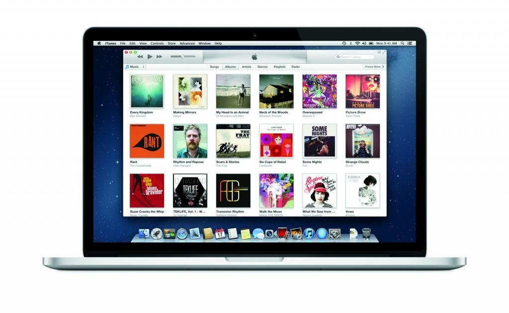 iTunes auf dem MacBook Pro