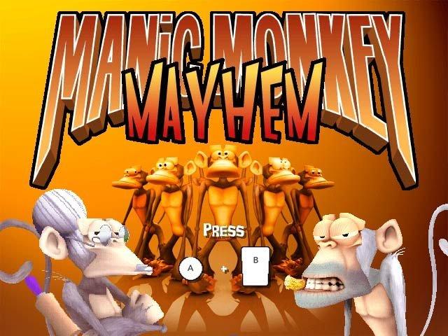 Manic Monkey Mayhem – Startbildschirm