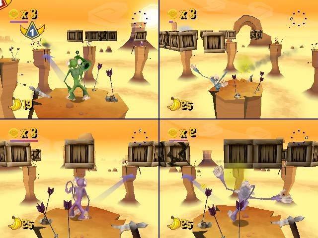 Manic Monkey Mayhem – 4-Spieler-Split-screen