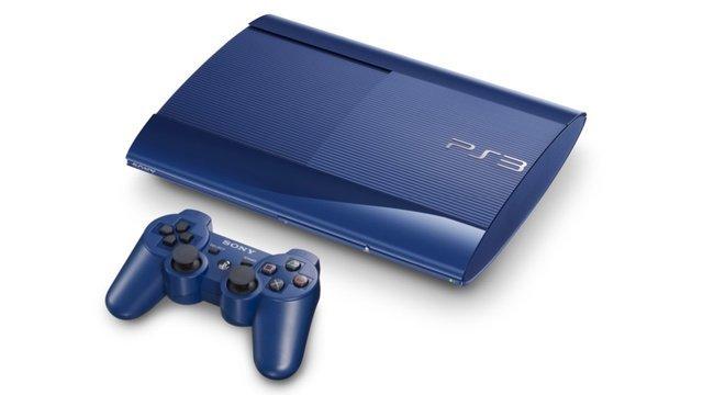 PlayStation 3 Super-Slim Azur-Blau